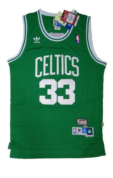 Camisa Boston Celtics Larry Bird Verde Ou Branca