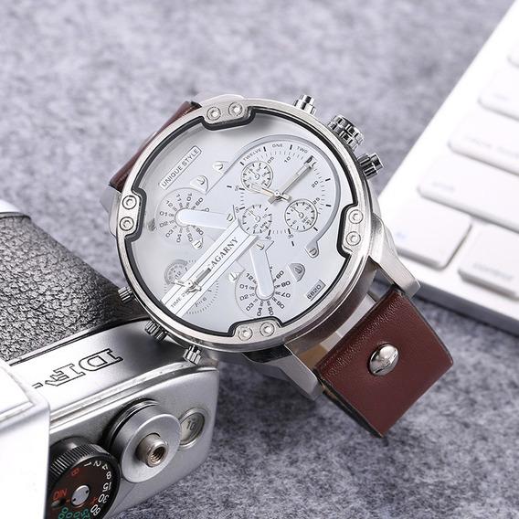 Relógio Masculino Cagarny 6820 - Pulseira Couro Original