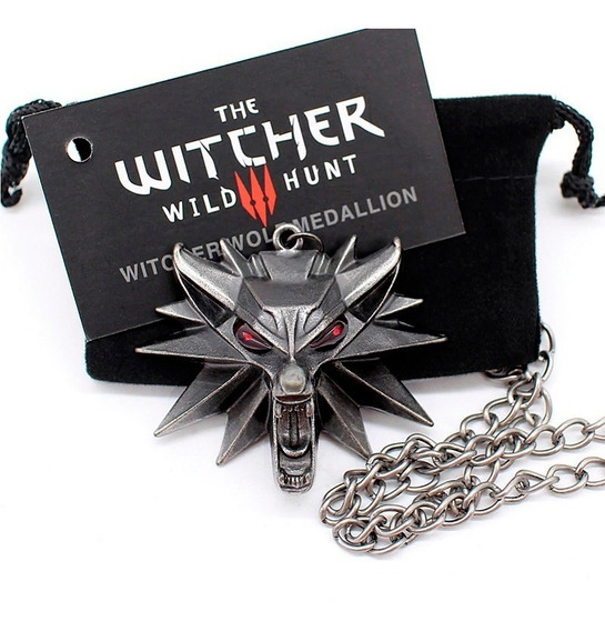 Medalhão The Witcher 3 Pingente Lobo Original J!nx