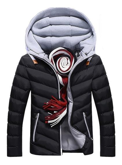 Jaqueta Masculina Recoberta Com Forro Quente Alta Qualidade