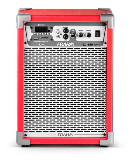 Caixa Som Amplificada Frahm Vermelho 80w