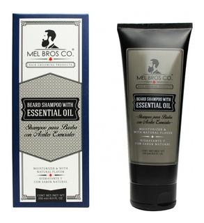 Mel Bros Co ® Shampoo Para Barba 8oz Aceites Esenciales Suaviza Barba Y Bigote Elimina Bacterias Y Resequedad