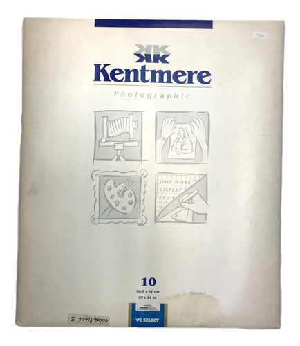 Imagen 1 de 2 de Papel Byn Kentmere 30x40 X10 Hojas Brillo (1129)