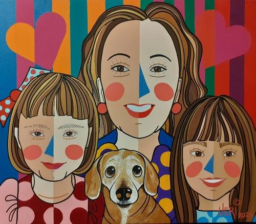 Quadro Em Pop Art 60x70veridiana Artista Plástica