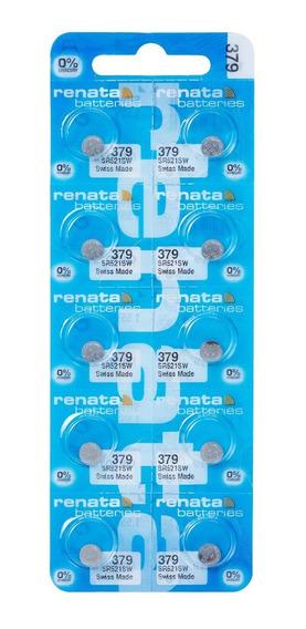 Pilhas Baterias 379, Relógio 1.55v Renata Sr521s Original 10