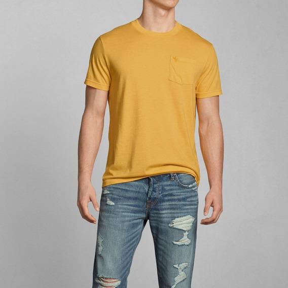 Camiseta Masculina Abercrombie 100% Original Importada Casual Algodão Cores Bermudas Moletom Casacos Camisas Hollister