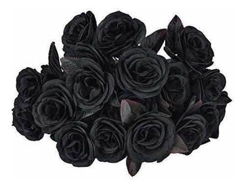 Ramo De Rosas Negras Artificiales De Hamore Flor De Rosa De Mercado Libre