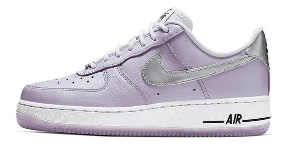 Nike Af1 Air Force One Mujer 23.5cm Originales Oxygen Purple