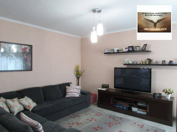 Sobrado Com 03 Dormitórios ( 1 Suíte Master ) 05 Vagas De Garagem,espaço Gourmet Residencial À Venda, Vila Mazzei, Santo André. - So0147