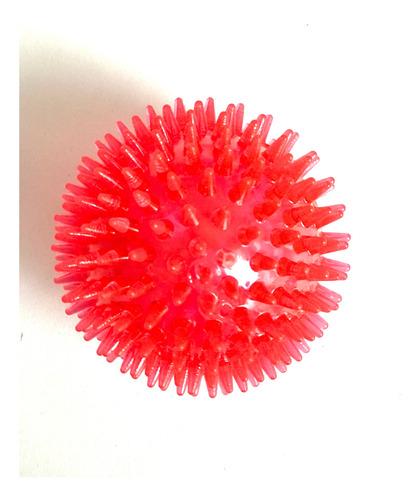 Imagem 1 de 4 de Brinquedo De Cachorro Bola Espinho Com Som Vermelha Grande