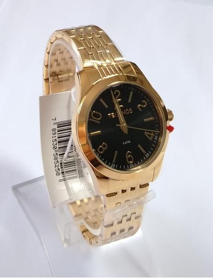 Relógio Technos Feminino Dourado 2035mnx/4p Original
