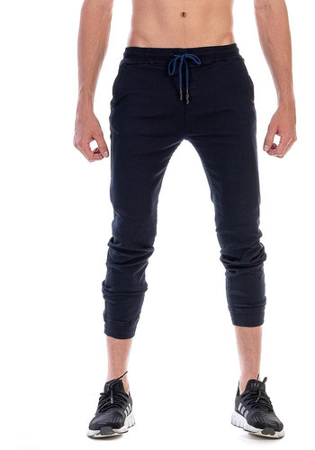 Pantalón Jogger De Gabardina Para Hombre Color Azul Marino