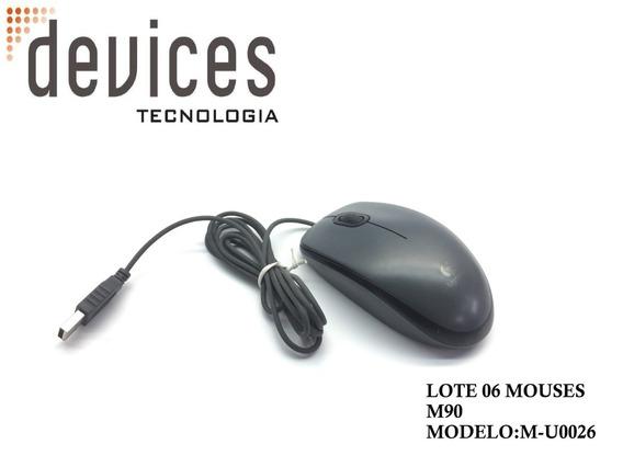 Lote 06 De Mouses Usb Logitech M90 Modelo:m-u0026