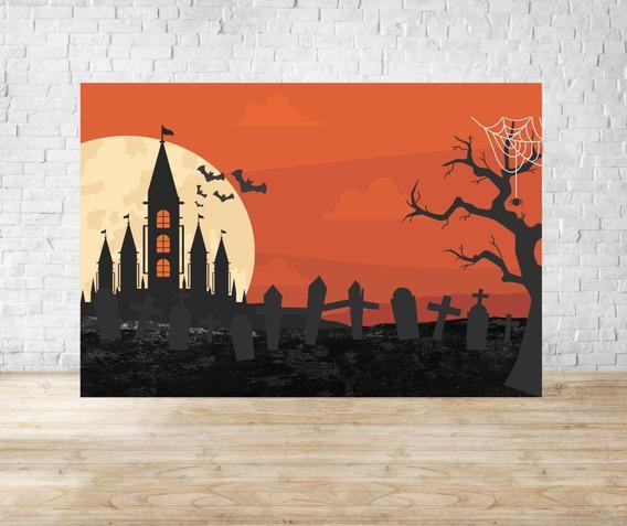 Fundo Fotográfico Em Tecido Halloween - Hlw06 - Horizontal