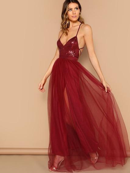 Vestido De Fiesta Largo Espalda Descubierta Casamiento 15
