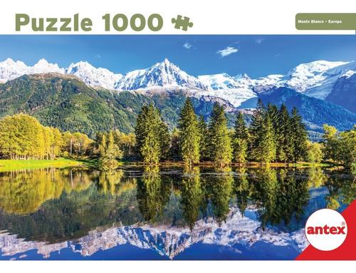 Imagen 1 de 3 de Puzzle 1000 Pzas Monte Blanco Europa Rompecabezas Antex 3060