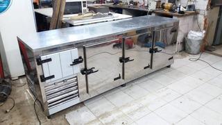 Promocio!!!heladera Mostrador 2.4 Mts 3 Puertas Y Media Acero Inox