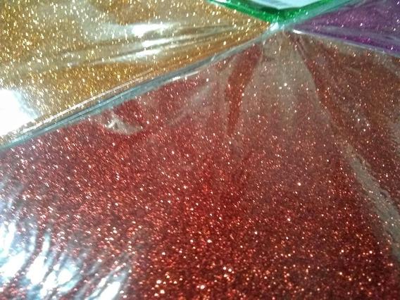 Cartulina Glitter 250grs A4 Adhesiva X 10un Del Mismo Color