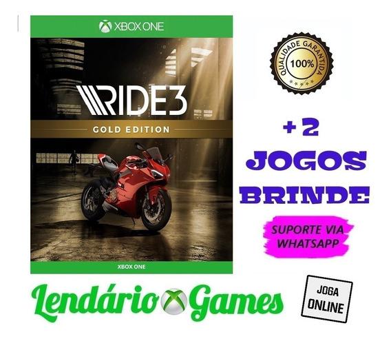 Ride 3 Gold Edition X One M. Digital + 2 Brindes