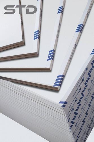 Placas De Yeso Std. Novoplack De 12,5 Mm 1,20 X 2,40 Mts