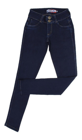 Calça Jeans Feminina Skinny Azul Escuro Rodeo Western 22656