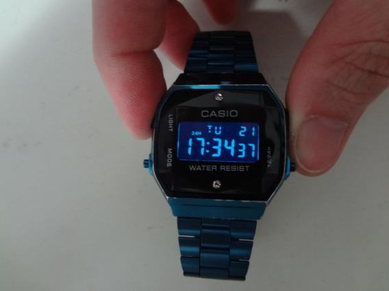 Relógio Pulso Unisex Casio Vintage Retrô Azul