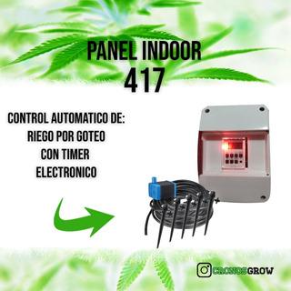 Riego Automático Goteo Indoor Grow Hidroponia Indoorautonomo