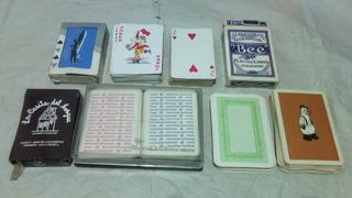 Lote 8 Mazos De Cartas Aerolineas Argentinas Peru Poker