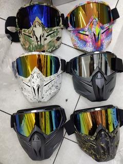 Careta Mascara Desmontable Para Casco Motociclista Pro