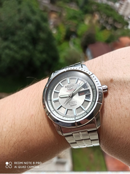 Exclusivo E Único Seiko 5 Sports Silver Srp335 Made In Japan