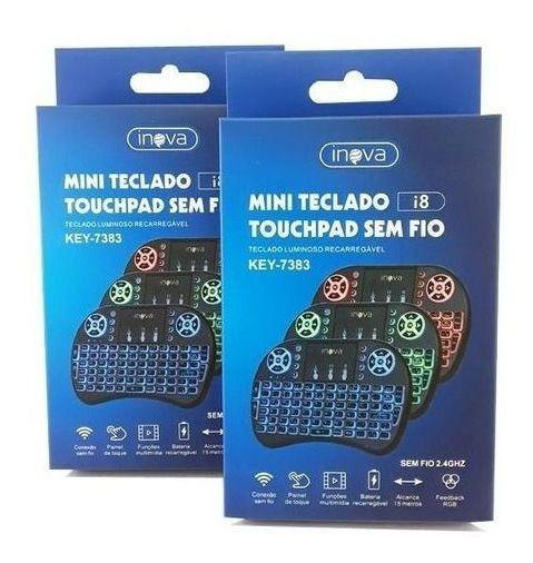 Mini Teclado Touchpad Wireless Usb Smart Tv Ps3 Xbox Netflix