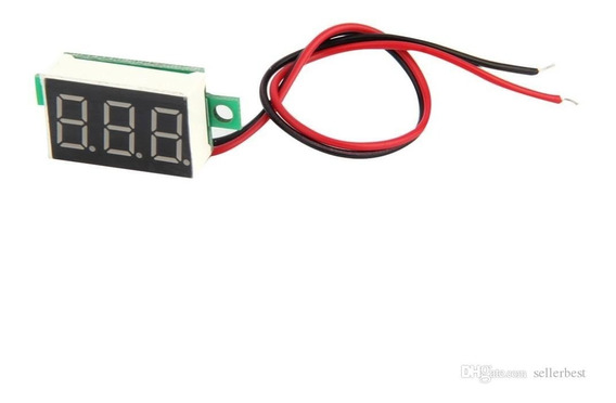 Voltímetro Digital 2 Fios Led Vermelho 2.5v~30v