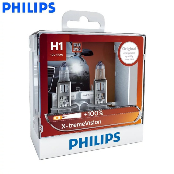 Philips H1 Xtreme Vision + 100% 3500k