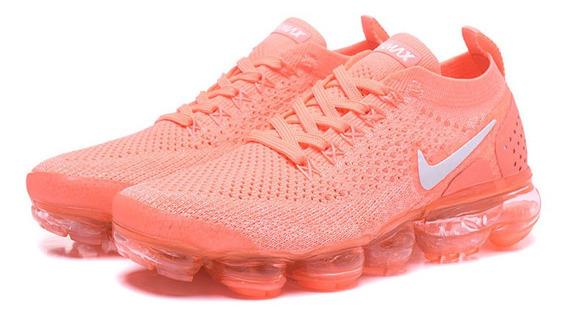 Tênis Nike Vapormax Flyknit 2 Laranja Neon Tamanho 36 Fem