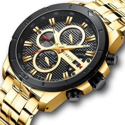 Curren 8337 Relógio Quartz Masculino Multifuncional