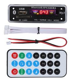 Placa Decodificador Modulo Bluetooth Usb Aux Leitura Pasta