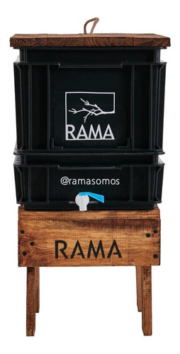 Compostera Rama Somos 20 L Canilla Lombrices Manual 1 Pers
