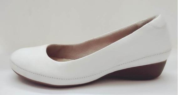 Sapato Malu Comfort Branco Couro