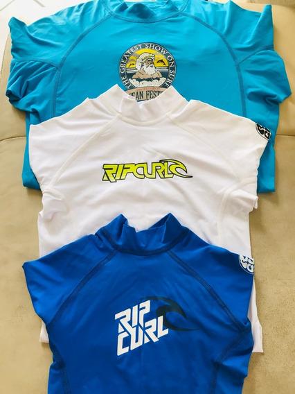 Playera Ripcurl Y Billabong Rashguard Lycra Surf Manga Larga