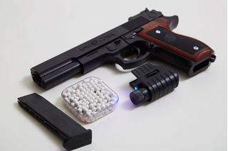 Pistola A Balines Tipo Airsoft +100 Municiones Originales