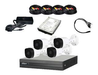 Kit Videovigilancia Dahua 4 Camaras 1mp + Hdd 500gb Frt