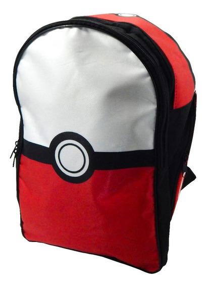 Pokemon Mochila Escolar Backpack Pokebola Pokeball Ash