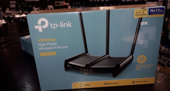Router Tp Link Rompemuros 450 Mbps 3 Antenas High Power