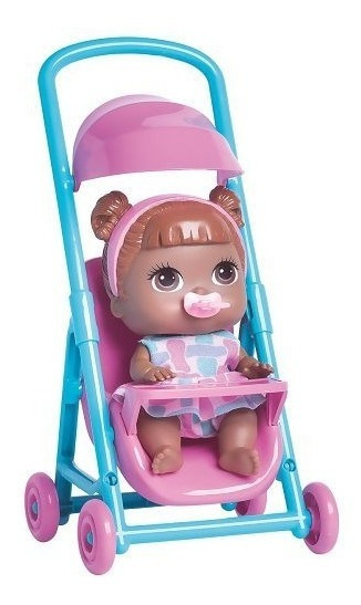 Boneca Babys Colletion Mini Carrinho Negra - Super Toys