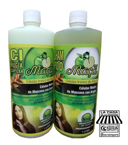 Cirugia Alisado Celulas Madre Manzana Y Argan Evita Caida 1l