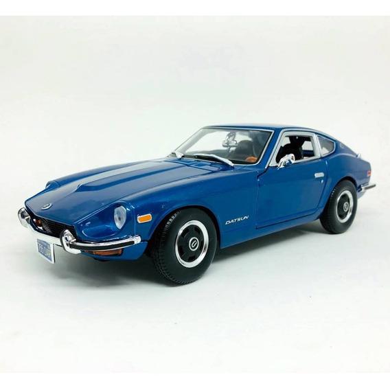 Miniatura Carro Datsun 240z 1971 Azul 1:18 Maisto 31170