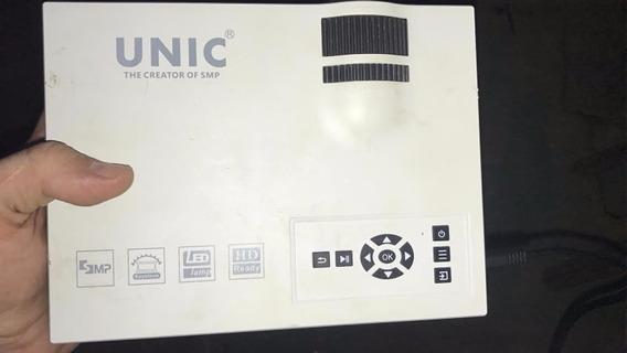 Mini Projetor Led Profissional Datashow Wifi Wireless Uc46