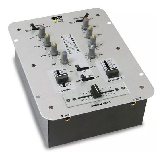 Mixer Dj Skp Sm 95 Com 2 Canais Controladora Dj Sm95 Sm-95