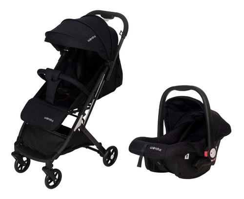 Imagen 1 de 10 de Cochecito De Bebé Con Huevito Negro Modelo 308 Wondrus