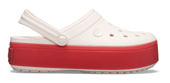 Crocs Crocband Platform Rosa Claro Mujer